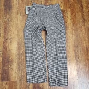 NEW Vintage Black Houndstooth High Waist Trousers